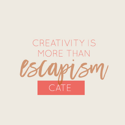 When creativity is more than just escapism