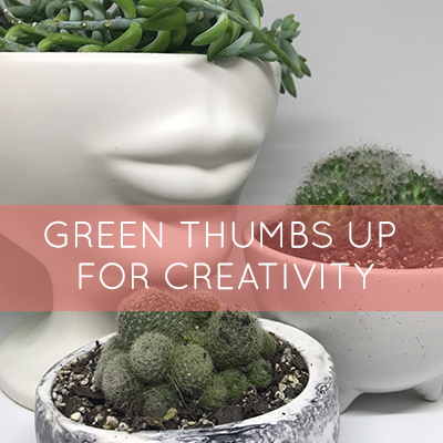 Green Thumbs up for Creativity