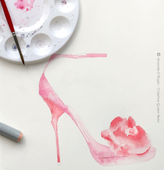 Roger-Vivier-inspired-watercolour-shoes