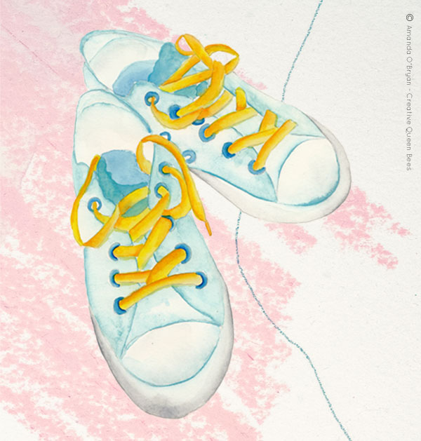Sandshoes Illustration Copyright Amanda O'Bryan