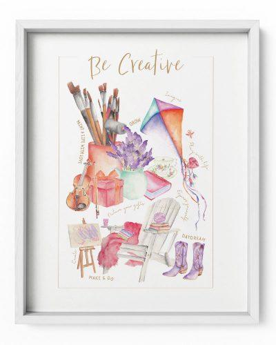 Be Creative Poster Print