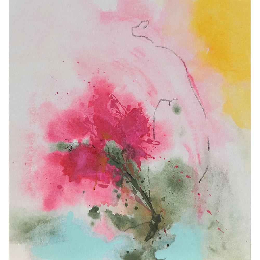 Amanda-O'Bryan-Artist-'Late-Bloomer'-650x550mm-2020
