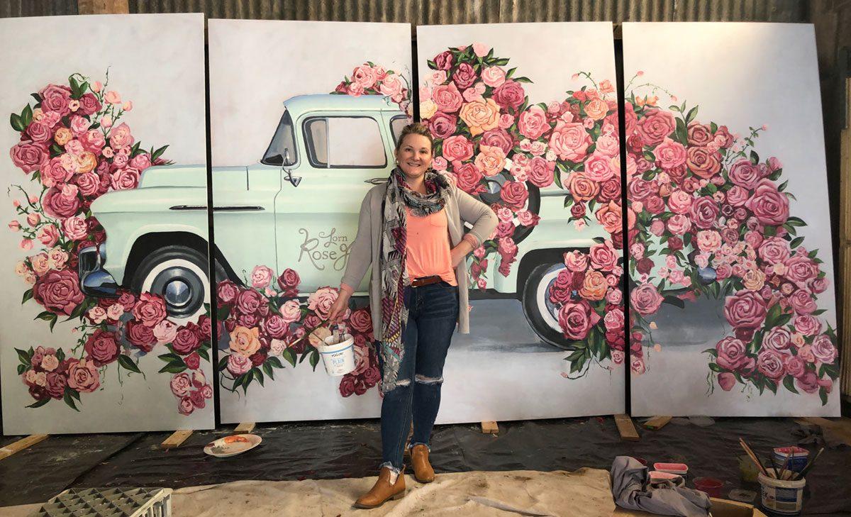 Amanda O'Bryan Artist, Lorn Rose Farm Mural