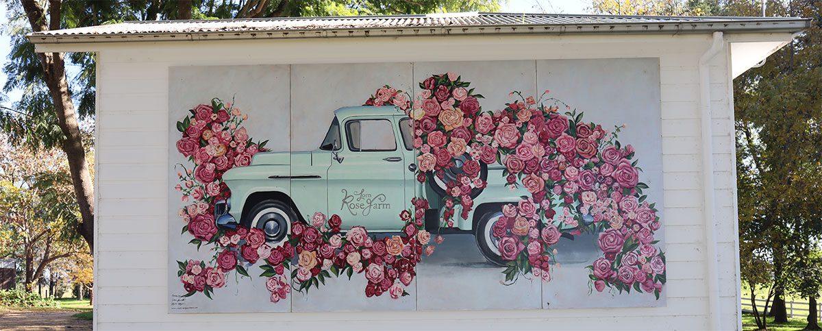 The Lorn Rose Farm Mural by Amanda O'Bryan Creative Queen Bees