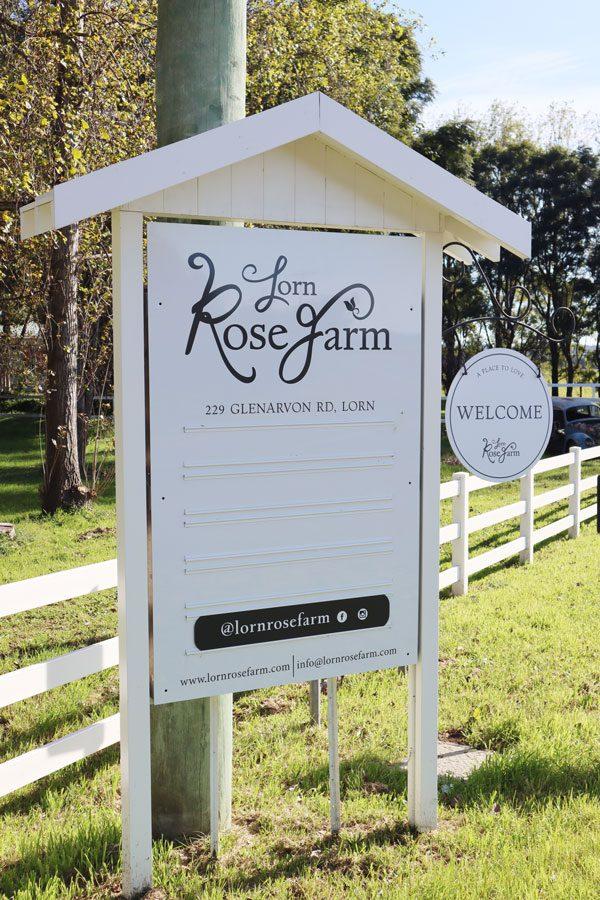 Lorn Rose Farm Roadside Signage by Amanda O'Bryan Creative Queen Bees